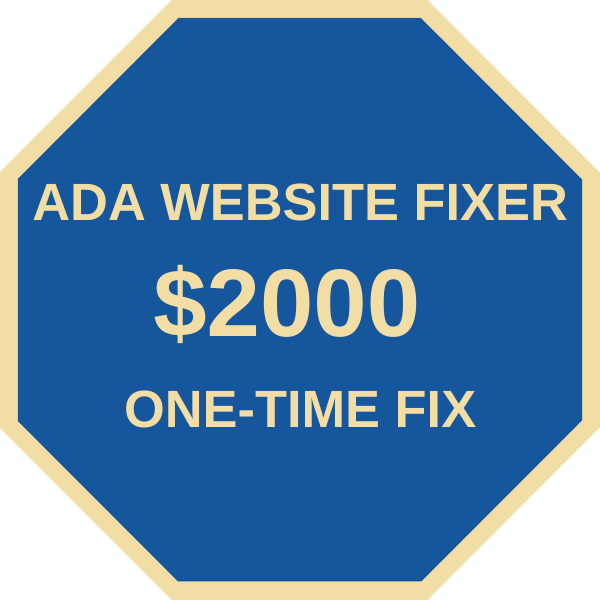 ADA Website Fixer, ADA Website Compliance